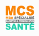Logo MBA Spé. MCS Marketing Communication Santé