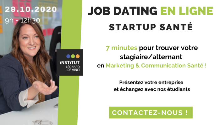Article Job dating Marketing Santé online : trouvez vos futurs alternants et stagiaires !